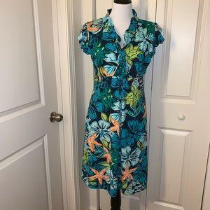 EUC Tracy Negoshian Ruffle Neck Dress
